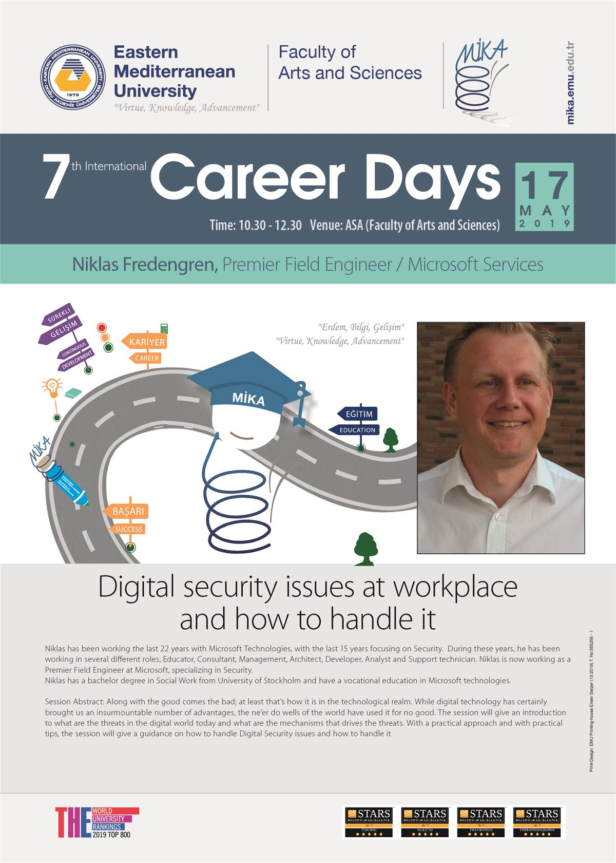 Niklas Fredengren, Premier Field Engineer / Microsoft Services. Digital security issues at workplace and how to handle it.